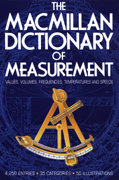 The MacMillian Dictionary of Measurement