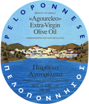 original Peloponnese olive oil label